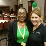 Donna Hill and L.A. Care Health Plan representative