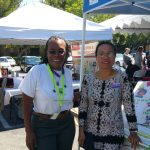 Donna Hill and representative at Fair