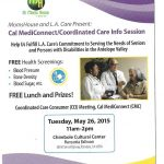 L.A Cal MediConnect event flyer
