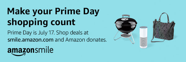 Prime day shopping and Amazon Donations banner
